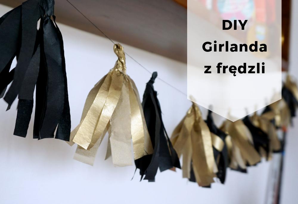 DIY Girlanda z papierowych frędzli