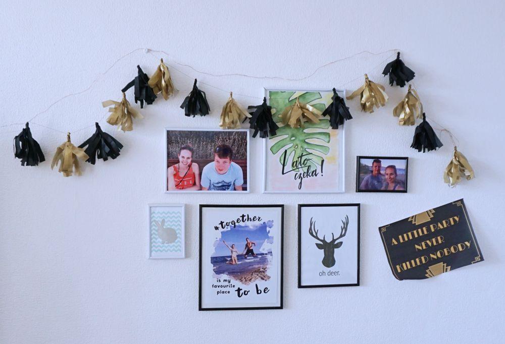DIY Zrób to sam Czarno złota Girlanda z papierowych frędzli - lata 20, Great Gatsby Party