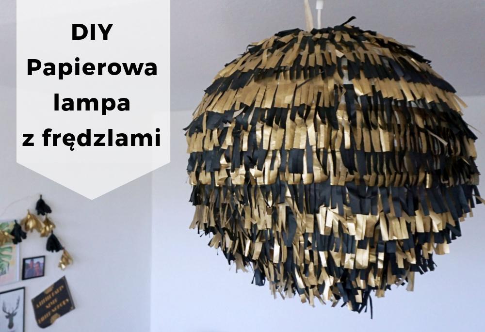 DIY Papierowa lampa z frędzlami