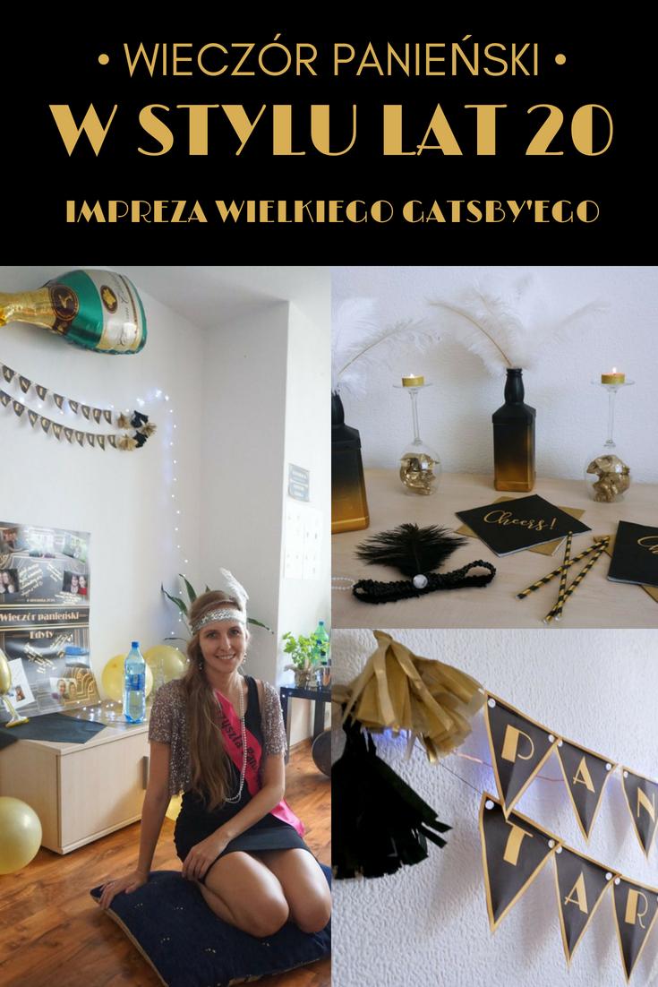 Wieczór panieński w stylu lat 20 - impreza Wielkiego Gatsby'ego // Great Gatsby Party, Hen party 20 style