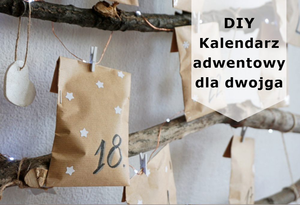 DIY Kalendarz adwentowy + zadania dla par do druku