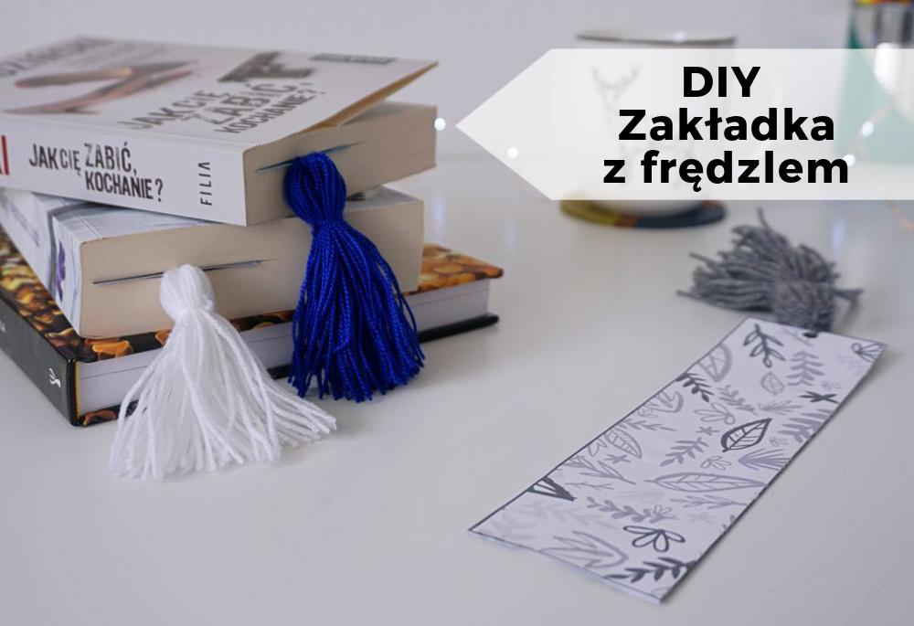 DIY Zakładka do książki z frędzlem + zakładki do druku