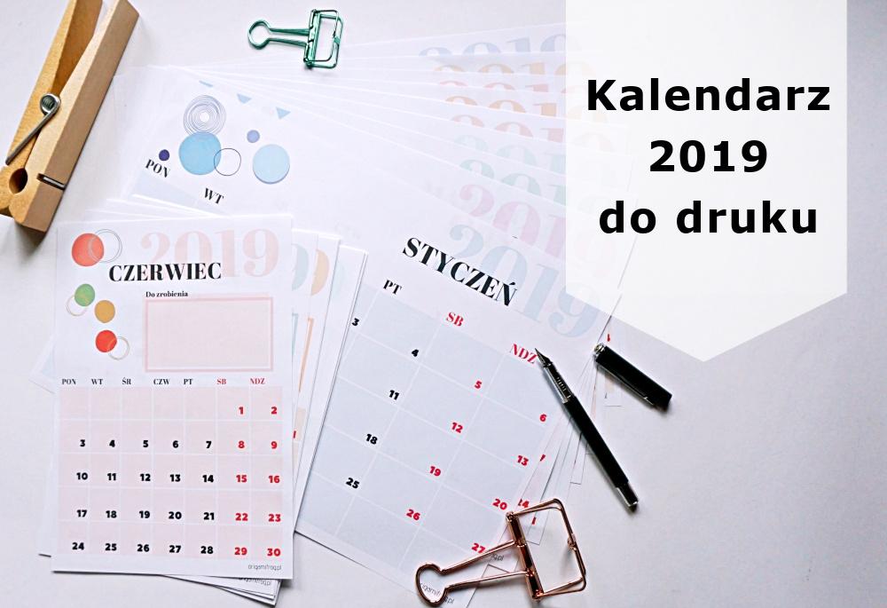Kalendarz 2019 Do Druku Origamifrogpl