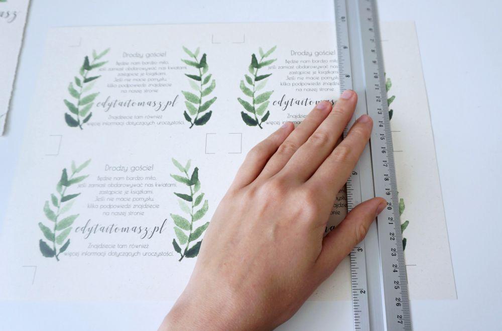 DIY Rustykalne zaproszenia ślubne wykonane własnoręcznie