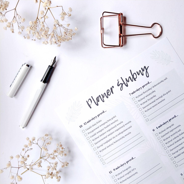 Od czego zacząć planowanie ślubu - Harmonogram przygotowań do druku