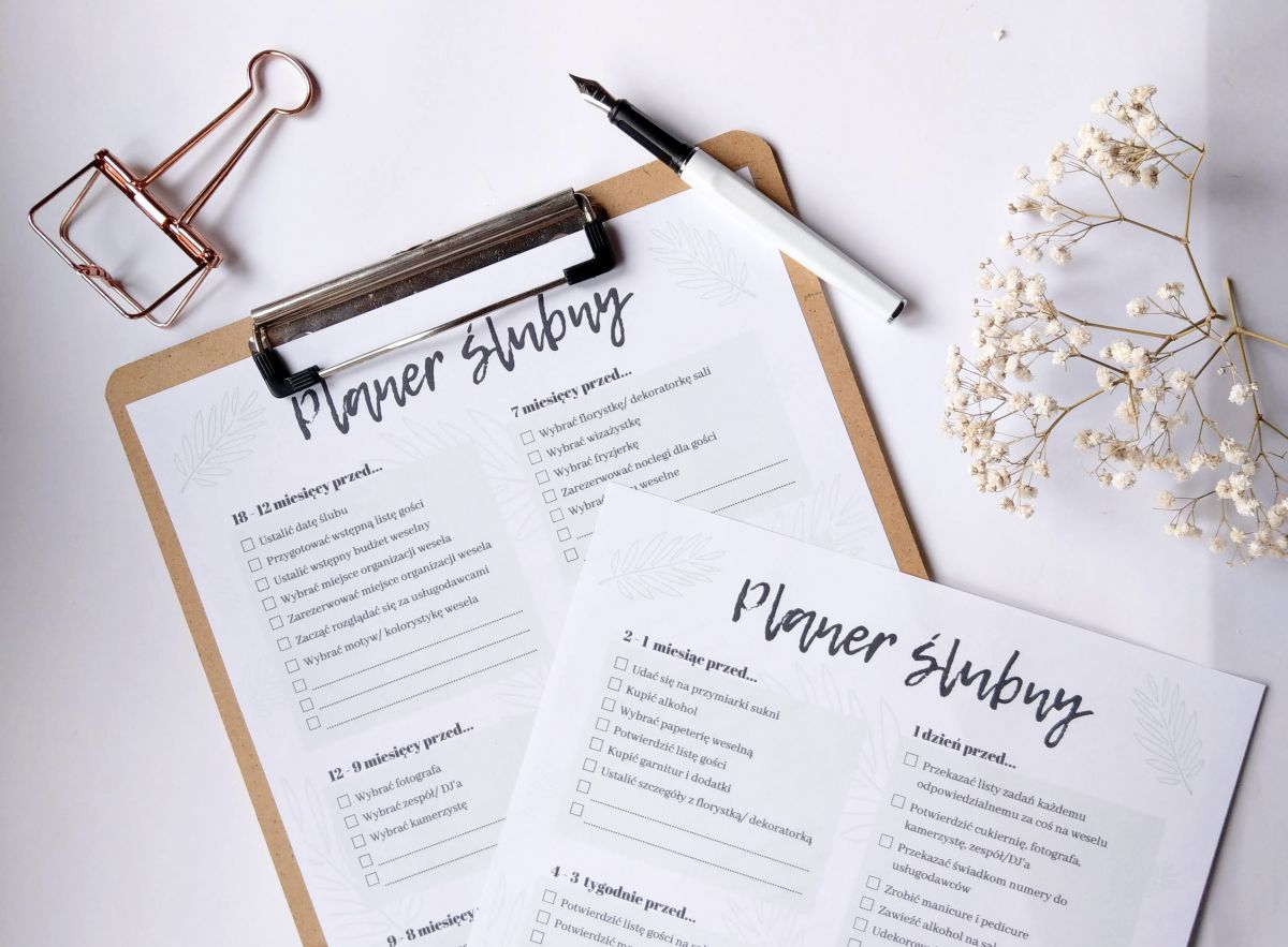 Jak zaplanować ślub i wesele? Harmonogram przygotowań weselnych
