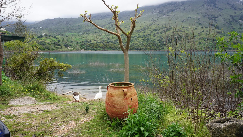 DIY Kreta poza sezonem - jezioro Kournas