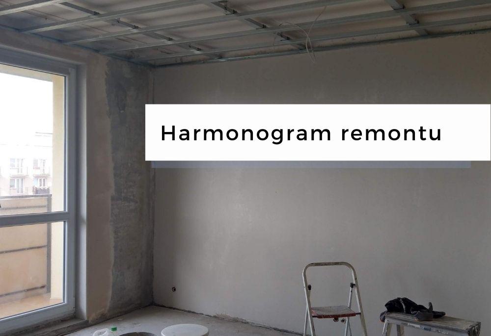 Harmonogram generalnego remontu mieszkania