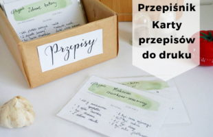 DIY Przepiśnik - karty na przepisy do druku